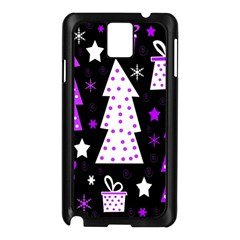 Purple Playful Xmas Samsung Galaxy Note 3 N9005 Case (Black)