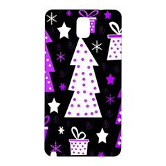 Purple Playful Xmas Samsung Galaxy Note 3 N9005 Hardshell Back Case