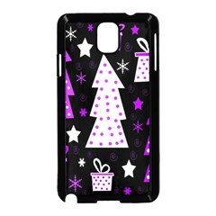 Purple Playful Xmas Samsung Galaxy Note 3 Neo Hardshell Case (Black)