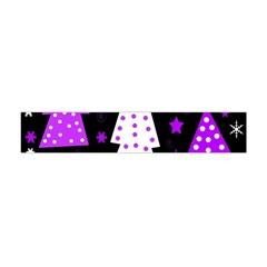 Purple Playful Xmas Flano Scarf (Mini)