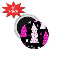 Pink playful Xmas 1.75  Magnets (10 pack)