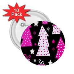 Pink playful Xmas 2.25  Buttons (10 pack)