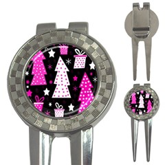Pink playful Xmas 3-in-1 Golf Divots