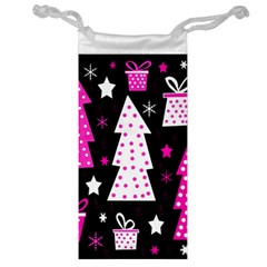 Pink Playful Xmas Jewelry Bags