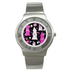 Pink playful Xmas Stainless Steel Watch