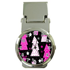 Pink playful Xmas Money Clip Watches