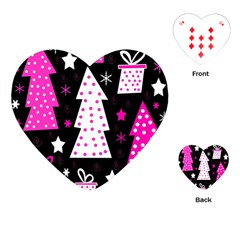 Pink playful Xmas Playing Cards (Heart)