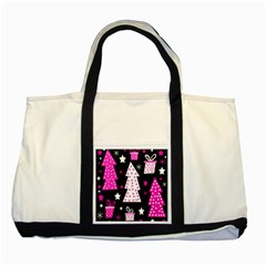 Pink playful Xmas Two Tone Tote Bag