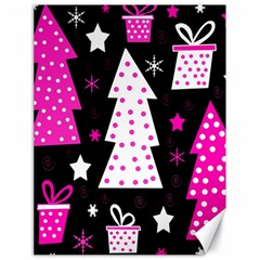 Pink playful Xmas Canvas 18  x 24