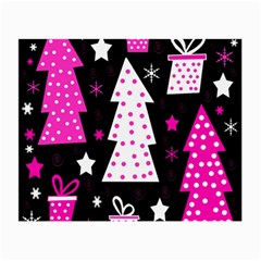 Pink playful Xmas Small Glasses Cloth (2-Side)