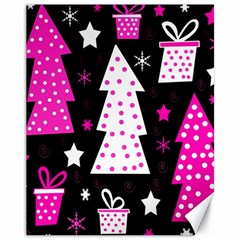 Pink playful Xmas Canvas 11  x 14