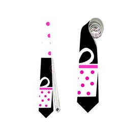 Pink playful Xmas Neckties (One Side)