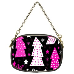 Pink playful Xmas Chain Purses (One Side)