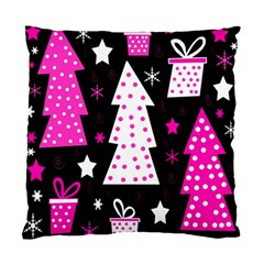 Pink playful Xmas Standard Cushion Case (Two Sides)