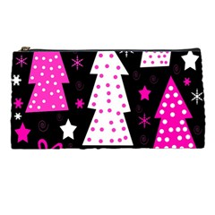 Pink playful Xmas Pencil Cases