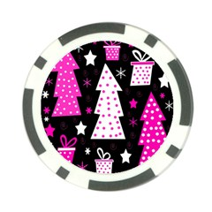 Pink playful Xmas Poker Chip Card Guards (10 pack)