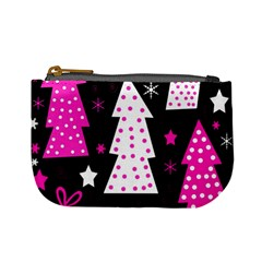 Pink playful Xmas Mini Coin Purses