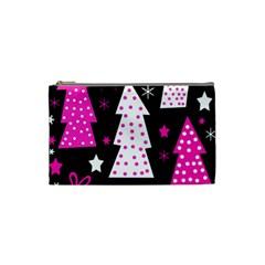 Pink playful Xmas Cosmetic Bag (Small)