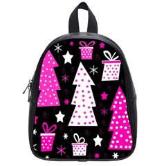 Pink playful Xmas School Bags (Small)