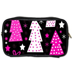 Pink playful Xmas Toiletries Bags 2-Side