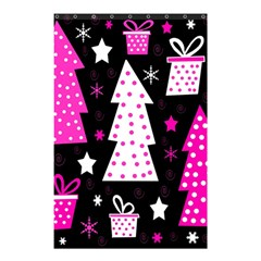 Pink playful Xmas Shower Curtain 48  x 72  (Small)