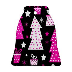 Pink playful Xmas Bell Ornament (2 Sides)