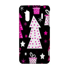 Pink playful Xmas HTC Evo Design 4G/ Hero S Hardshell Case