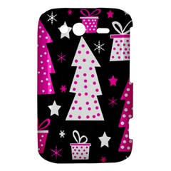 Pink playful Xmas HTC Wildfire S A510e Hardshell Case