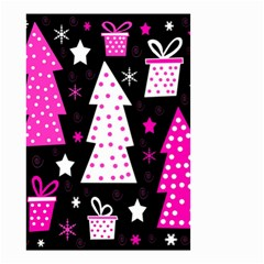 Pink playful Xmas Small Garden Flag (Two Sides)
