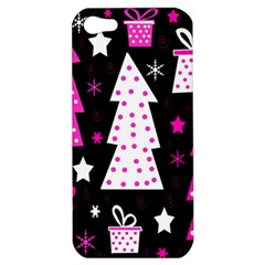 Pink playful Xmas Apple iPhone 5 Hardshell Case