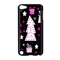 Pink playful Xmas Apple iPod Touch 5 Case (Black)