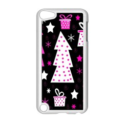 Pink playful Xmas Apple iPod Touch 5 Case (White)