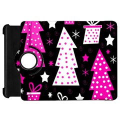 Pink playful Xmas Kindle Fire HD Flip 360 Case