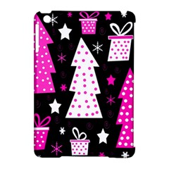 Pink playful Xmas Apple iPad Mini Hardshell Case (Compatible with Smart Cover)