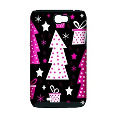 Pink playful Xmas Samsung Galaxy Note 2 Hardshell Case (PC+Silicone)