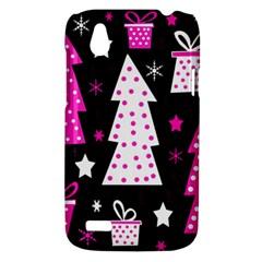 Pink playful Xmas HTC Desire V (T328W) Hardshell Case