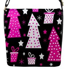 Pink playful Xmas Flap Messenger Bag (S)