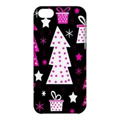 Pink playful Xmas Apple iPhone 5C Hardshell Case