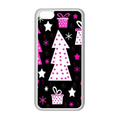 Pink playful Xmas Apple iPhone 5C Seamless Case (White)