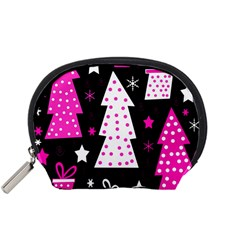 Pink playful Xmas Accessory Pouches (Small)