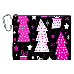 Pink playful Xmas Canvas Cosmetic Bag (XXL)