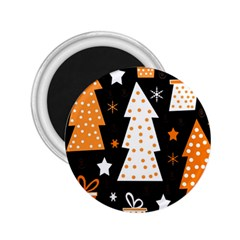 Orange Playful Xmas 2 25  Magnets