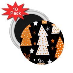 Orange playful Xmas 2.25  Magnets (10 pack)