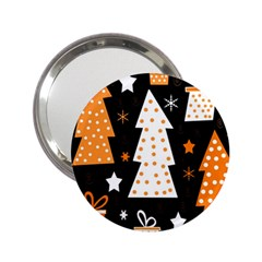 Orange playful Xmas 2.25  Handbag Mirrors