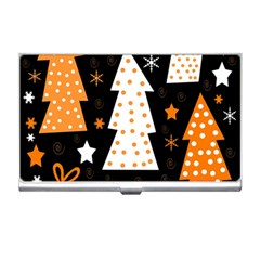 Orange playful Xmas Business Card Holders