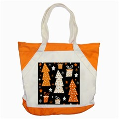 Orange playful Xmas Accent Tote Bag