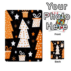 Orange playful Xmas Multi-purpose Cards (Rectangle)