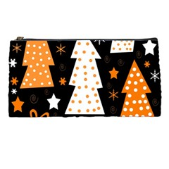 Orange playful Xmas Pencil Cases
