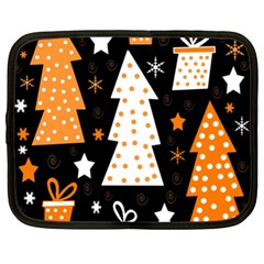 Orange playful Xmas Netbook Case (XL)