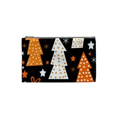 Orange playful Xmas Cosmetic Bag (Small)